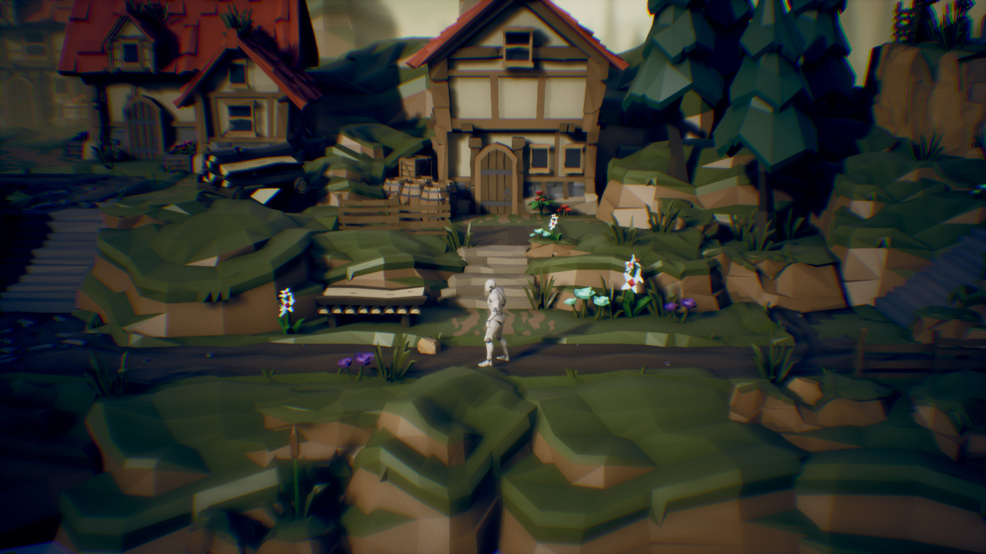 ArtStation - POLYGON side scroller art, Michael Wong