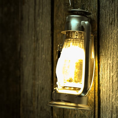 CGI Study of an oil lamp.