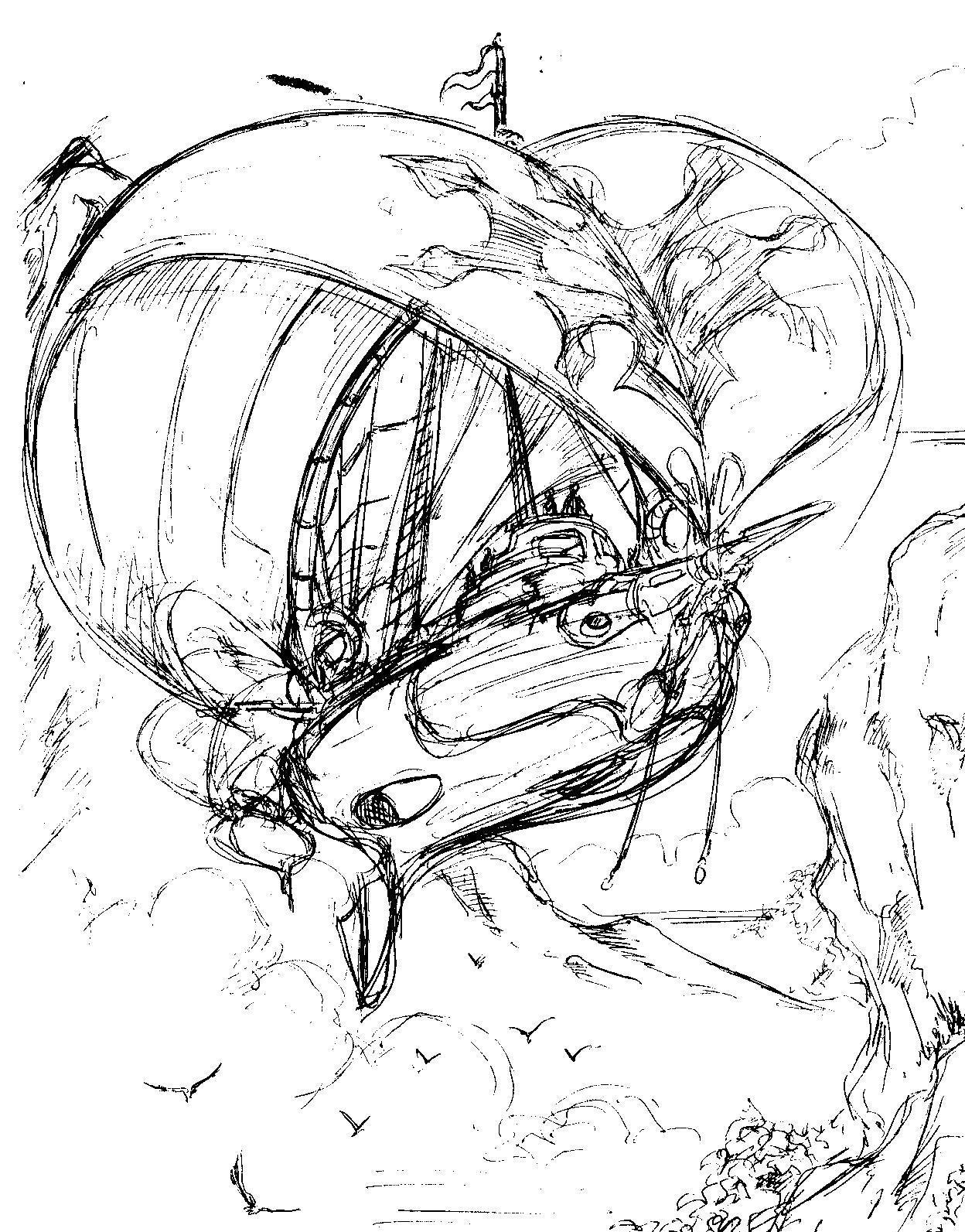Vincent bryant inktober 06 wind ship sketch