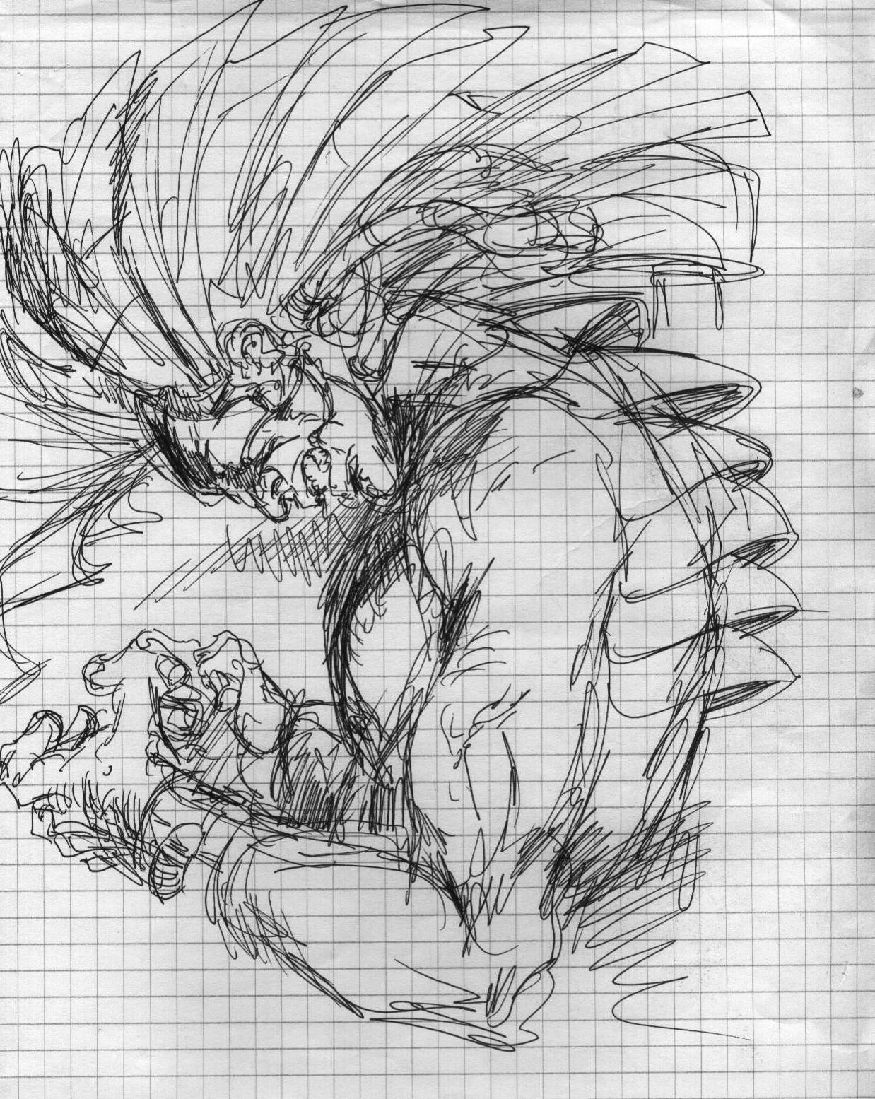 Vincent bryant inktober 07 tribal headdress sketch