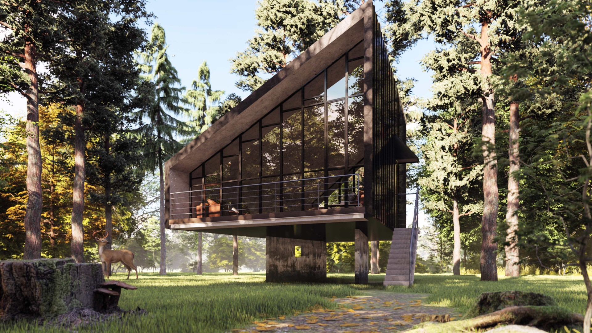 ArtStation - House in nature visualization Lumion 8