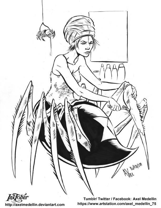 Inktober 6. Spider-Girl
