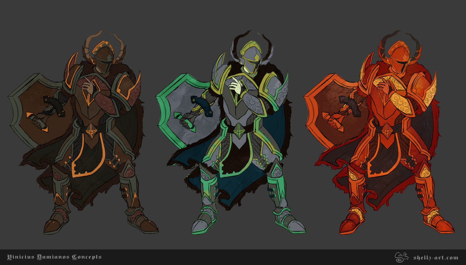 Vinicius Damianos Character Concepts