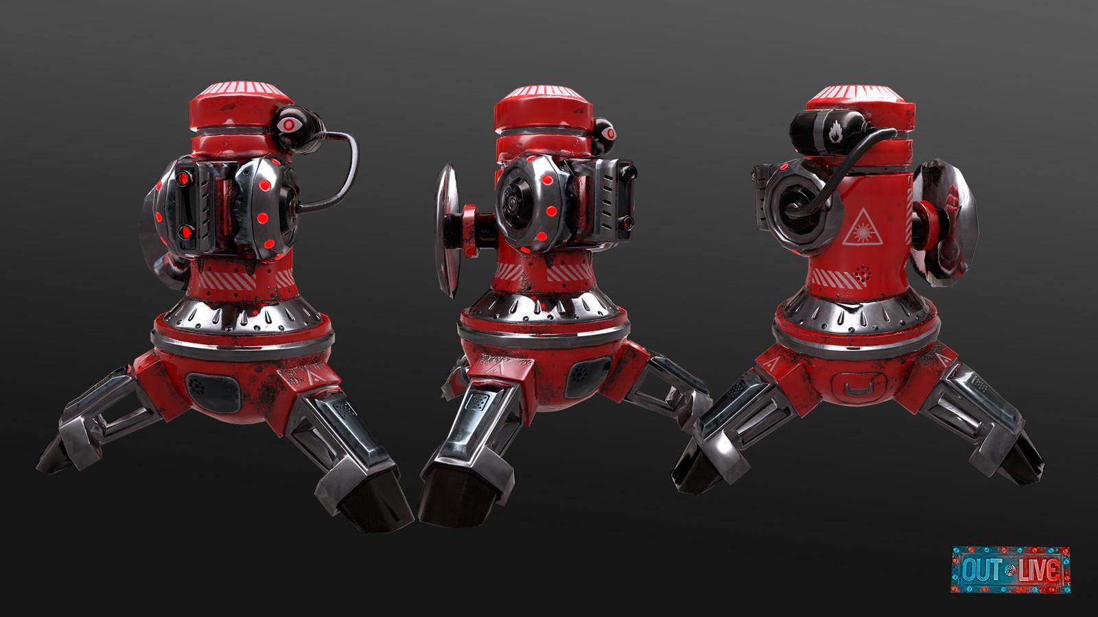 Laser Turret Robot