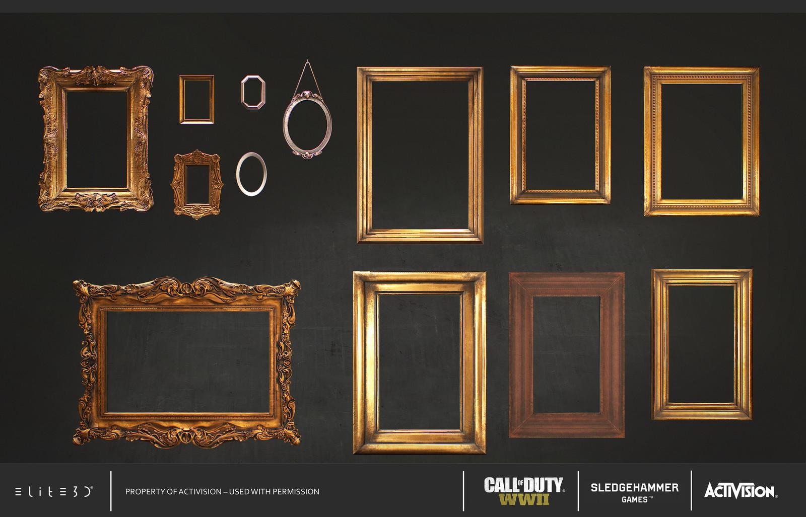 Wooden frames: Highpoly