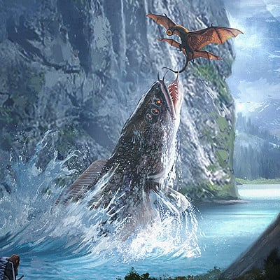 Travis lacey lake monster creature concept art travis lacey web