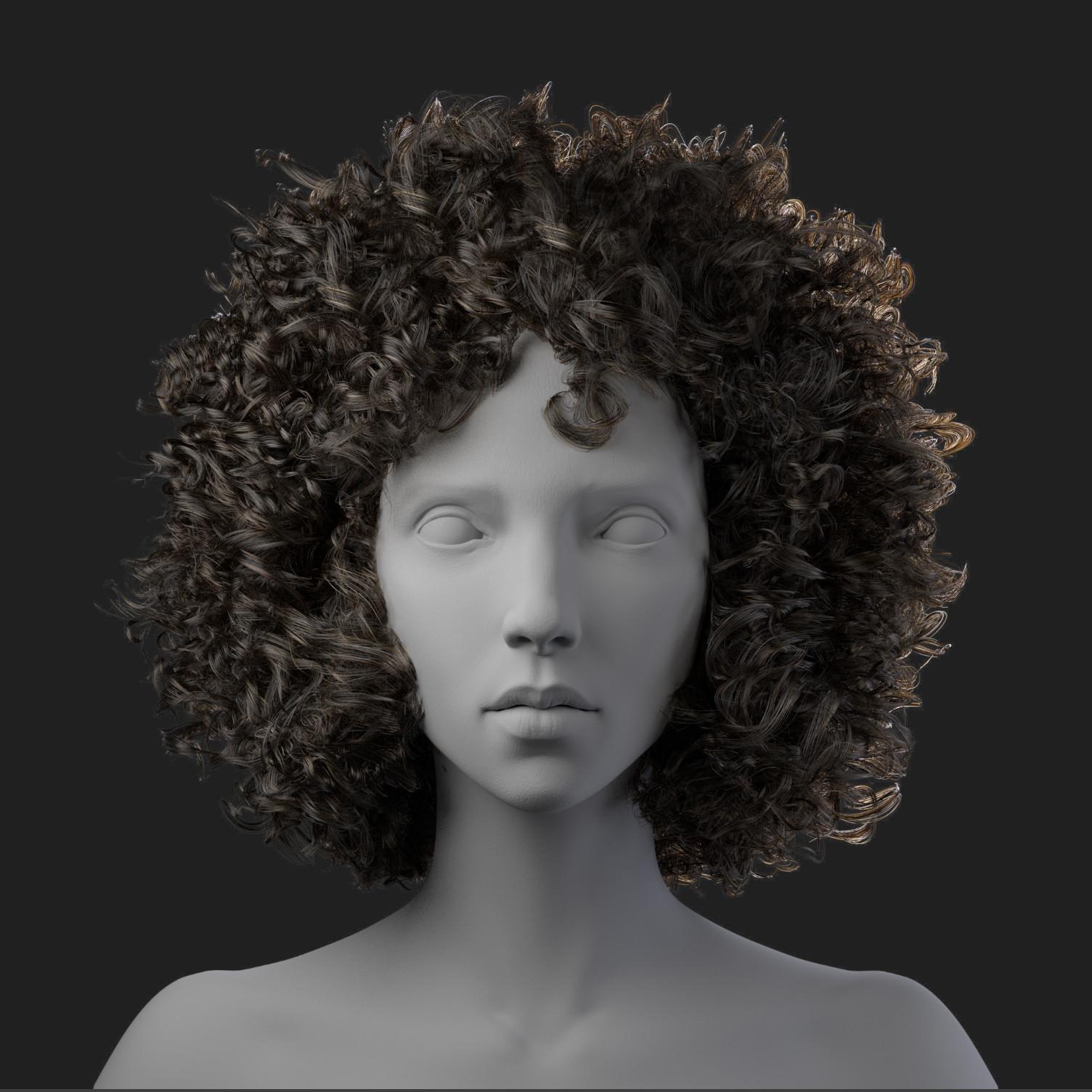 Maya Xgen Curly Hair - Short Curly Hair