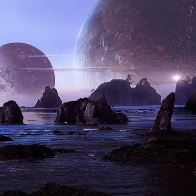 Scott richard sci fi beach by scott richard full size v3s