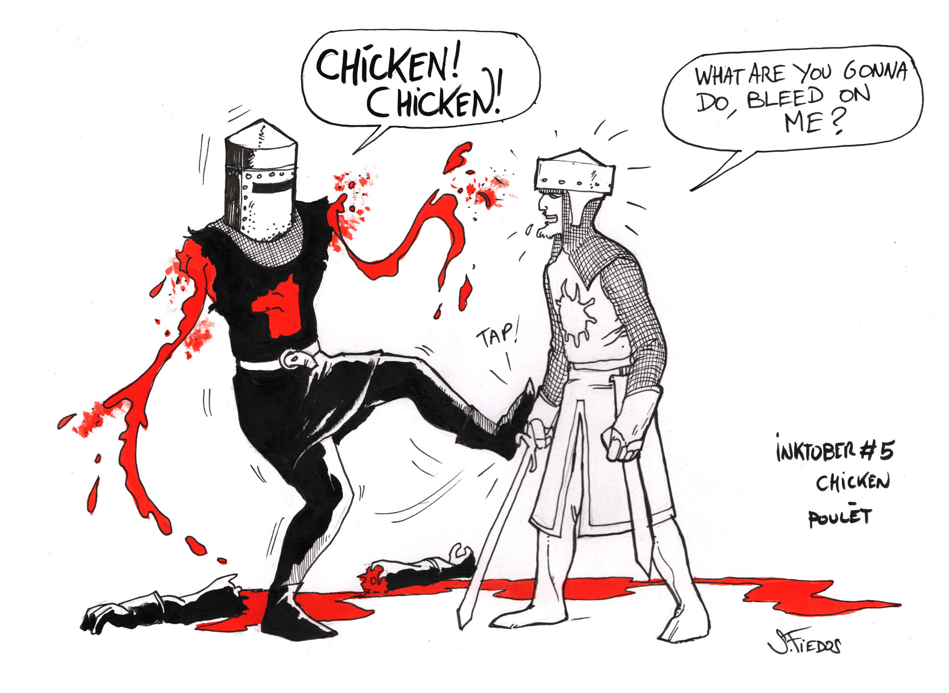 Serge fiedos inktober05 chicken by sergefiedos