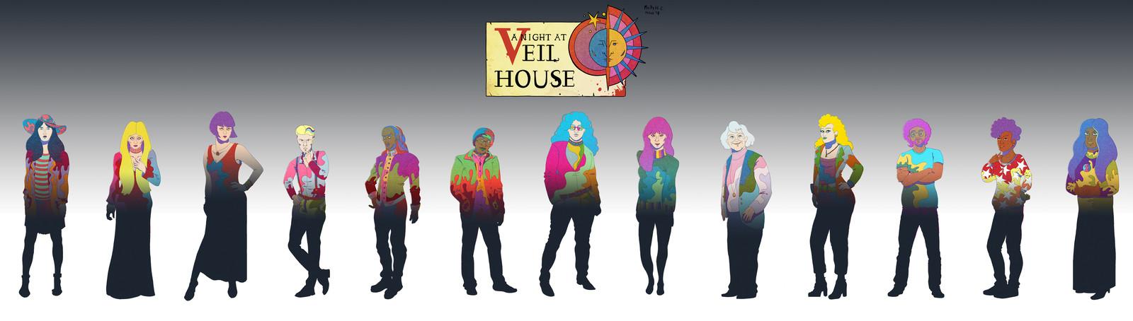 Veil House Character Portraits