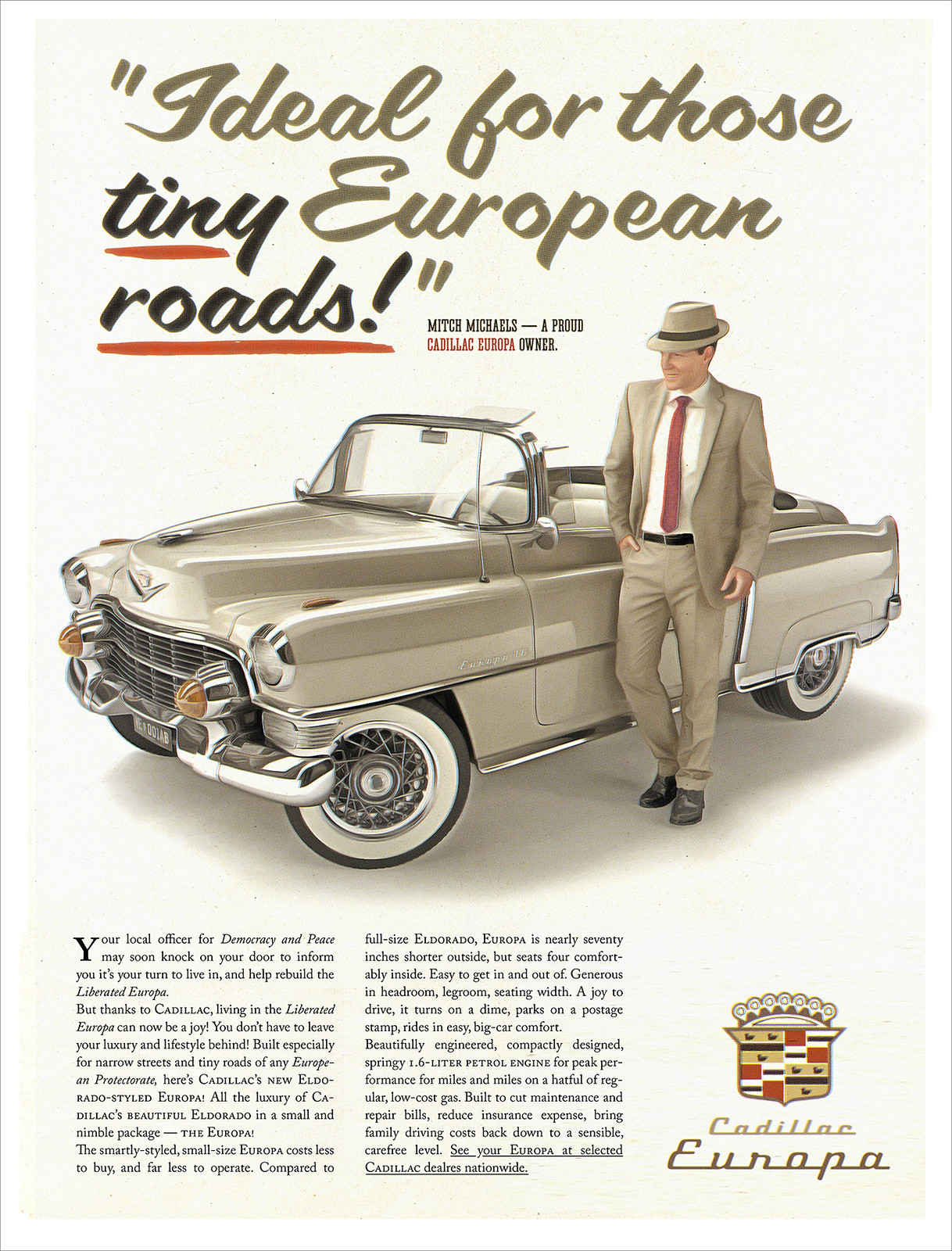 Cadillac Europa ad.