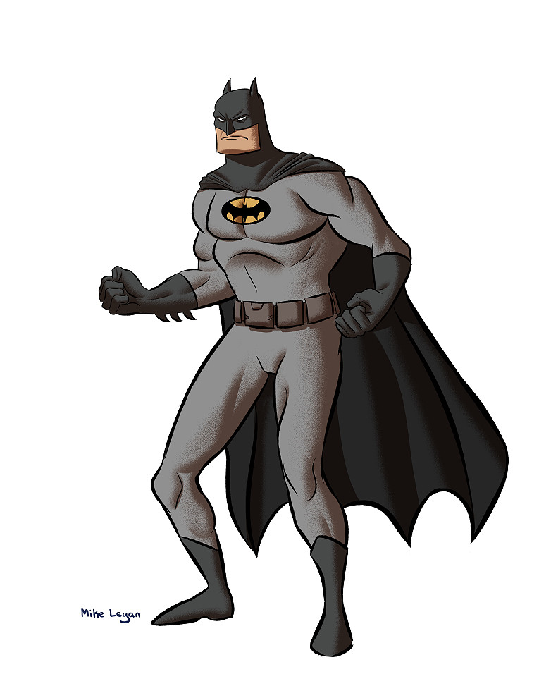 Mike legan batman grey