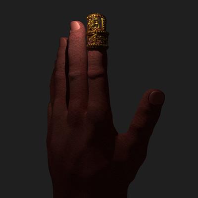 Science meets art mixtec gold nail