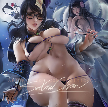Sakimi chan hollween mei pinup nsfw 01preview