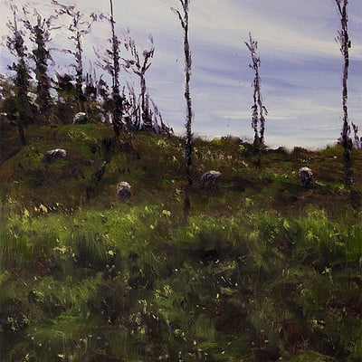 "Grazing -for sale 15.7x11.8"" (40x30cm)"