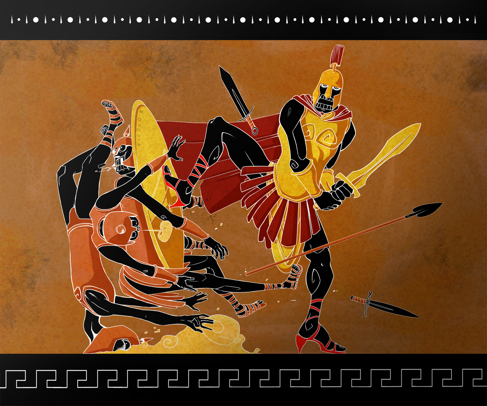 What for a discovery! Nicolò and I found a curious greek vase. Epic Tales forgot to tell a very important particular...