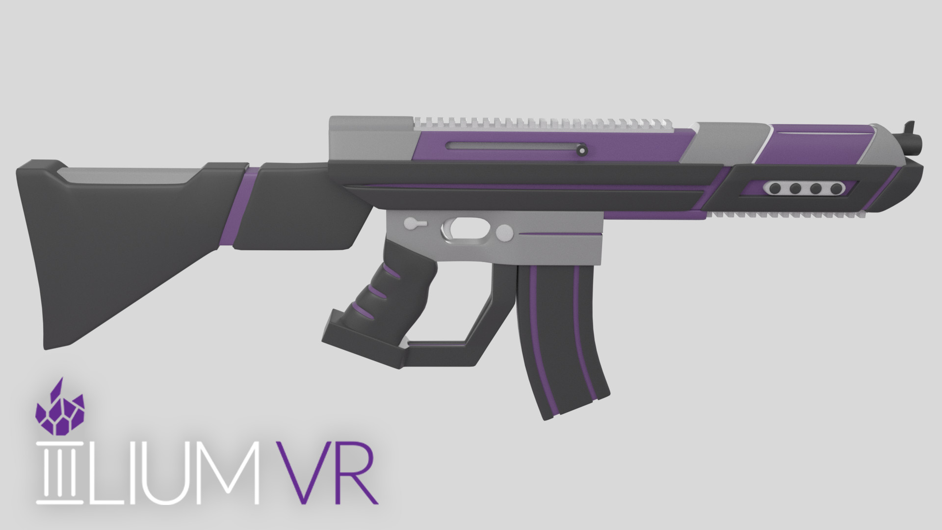 Final side render of completed rifle model