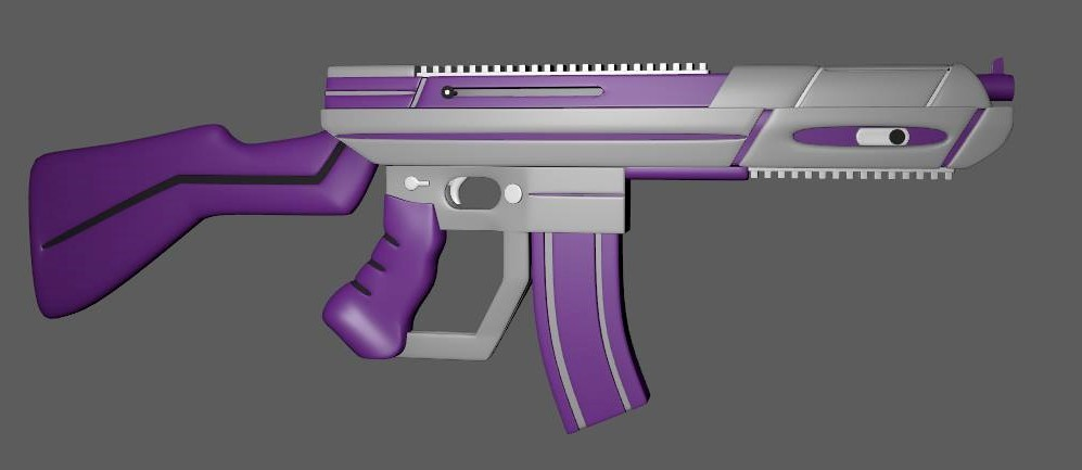 Early coloring of rifle model