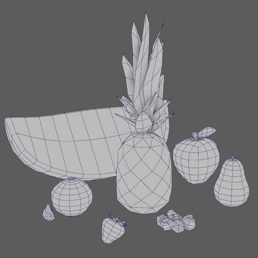 Fruit model wireframes