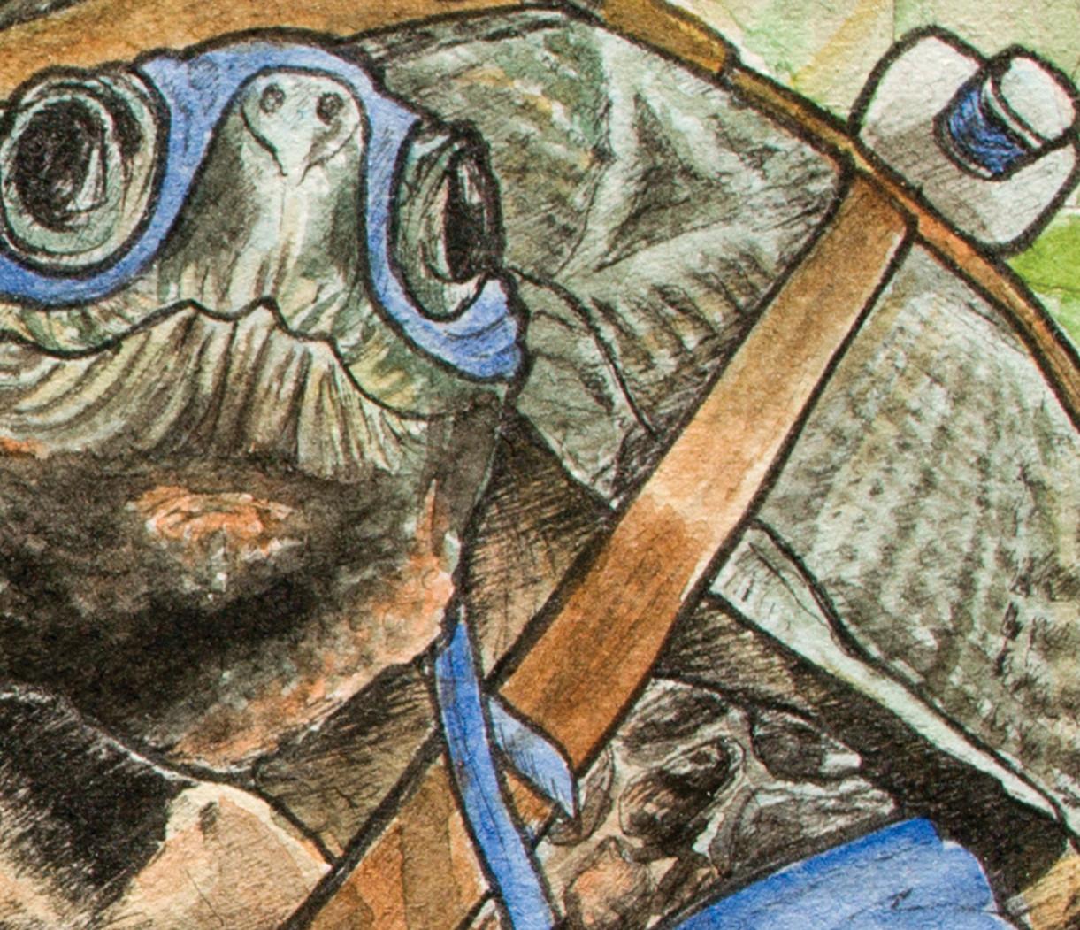 Leonardo shell and head detail