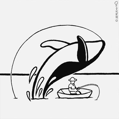 Erenito betta inktober2018 12 whale 570