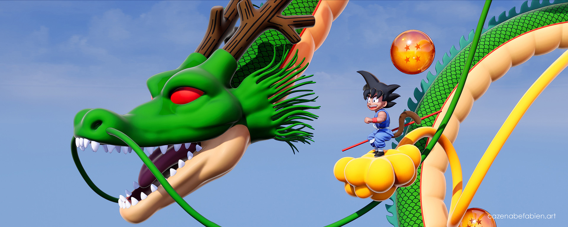 Fabien cazenabe sangoku dragon ball sculpt zbrush unreal 3d 05