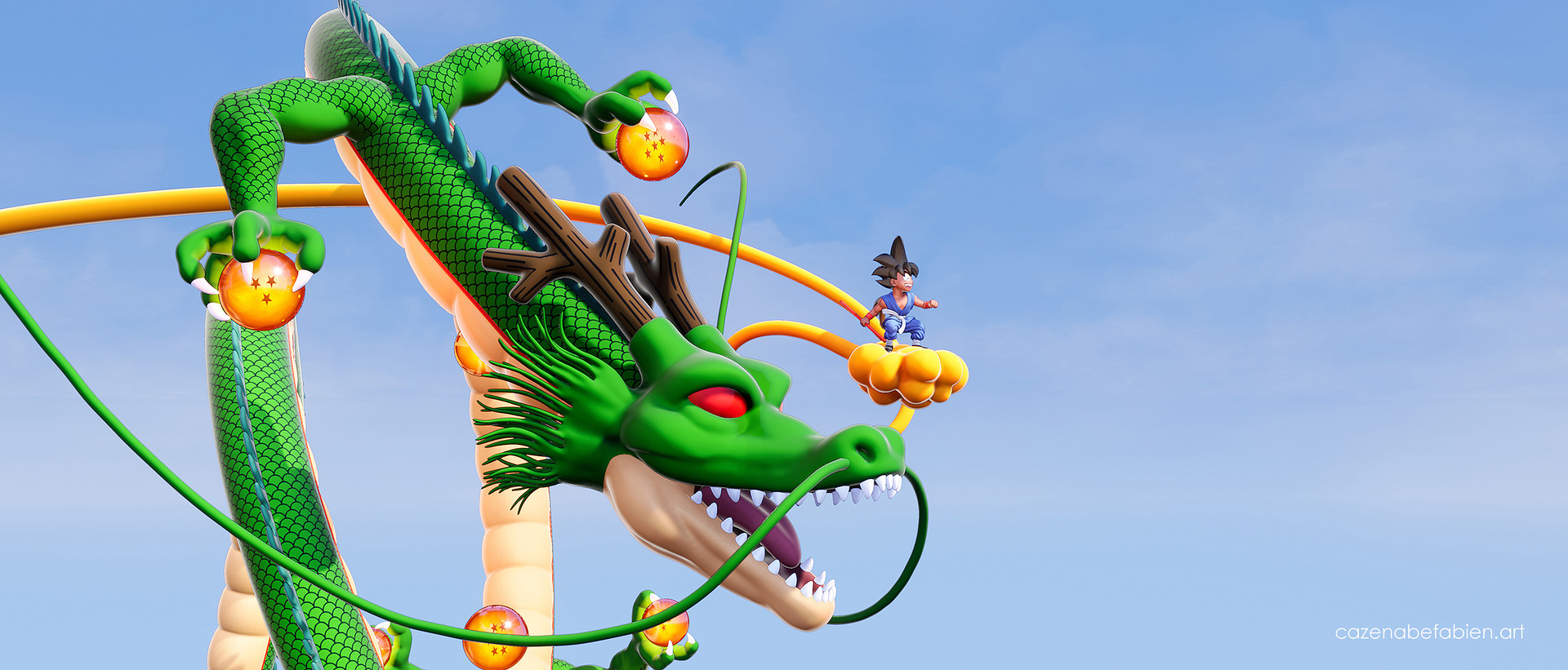 Fabien cazenabe sangoku dragon ball sculpt zbrush unreal 3d 02