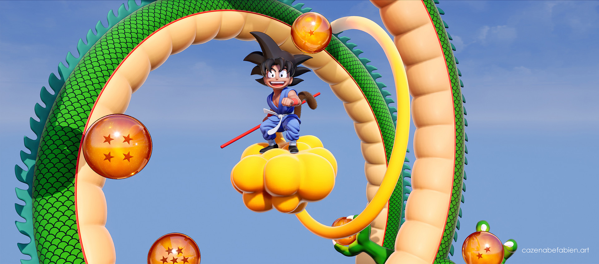 Fabien cazenabe sangoku dragon ball sculpt zbrush unreal 3d 13