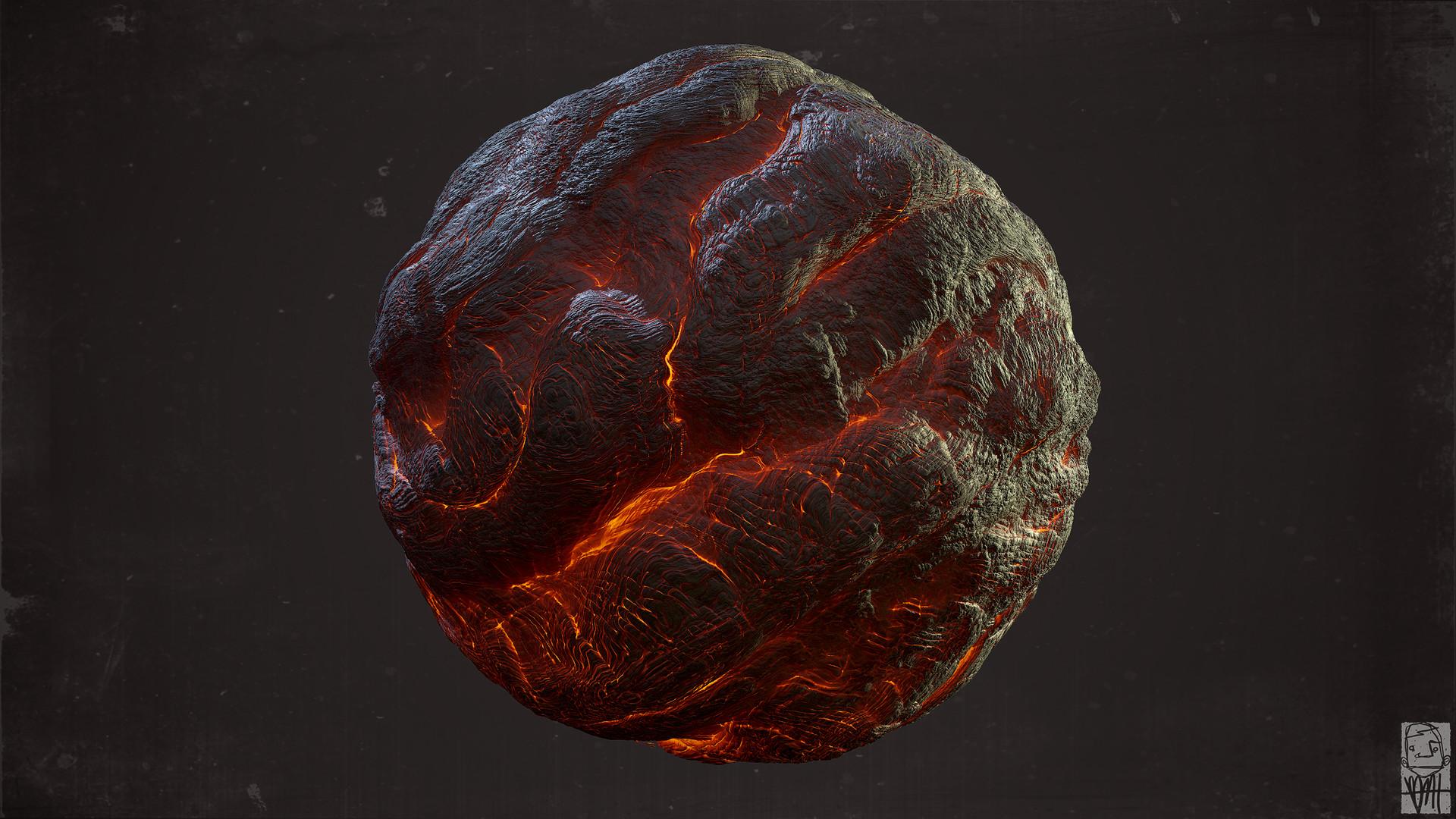Brett marshall tucker molten lava sphere