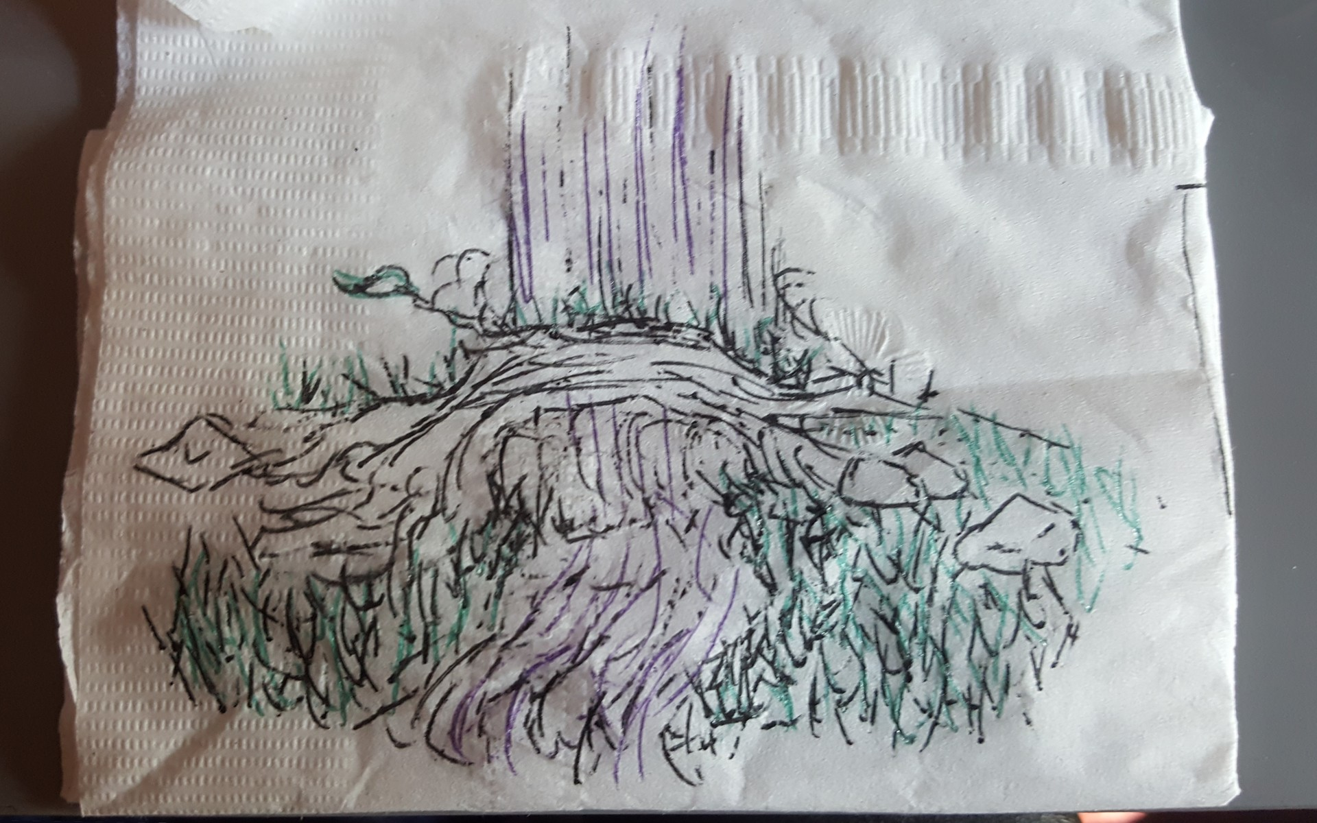Concept Art (Napkin Drawing)