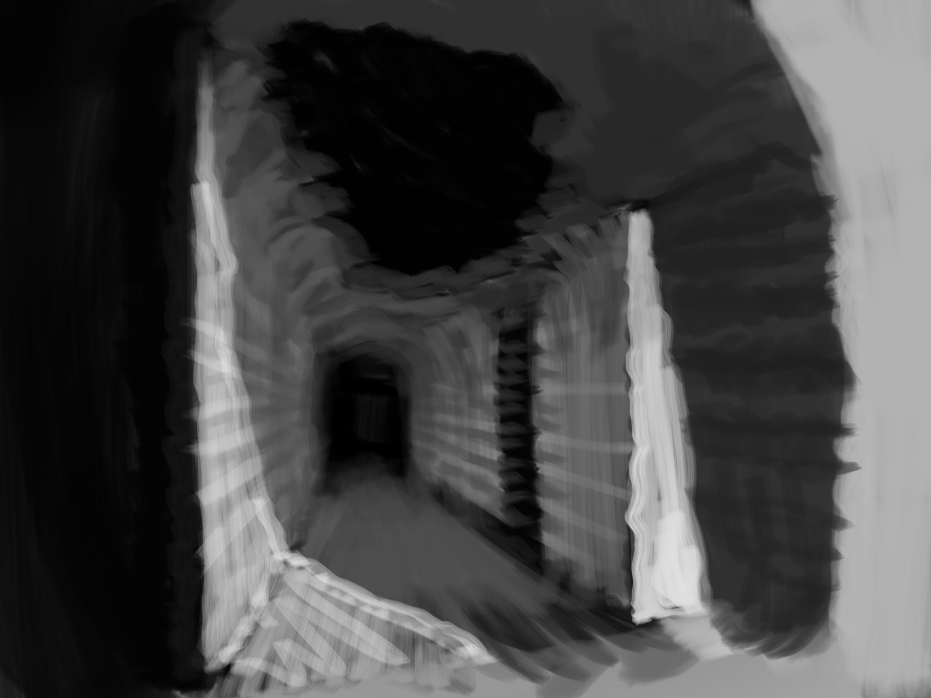 early sketch of the dungeon
