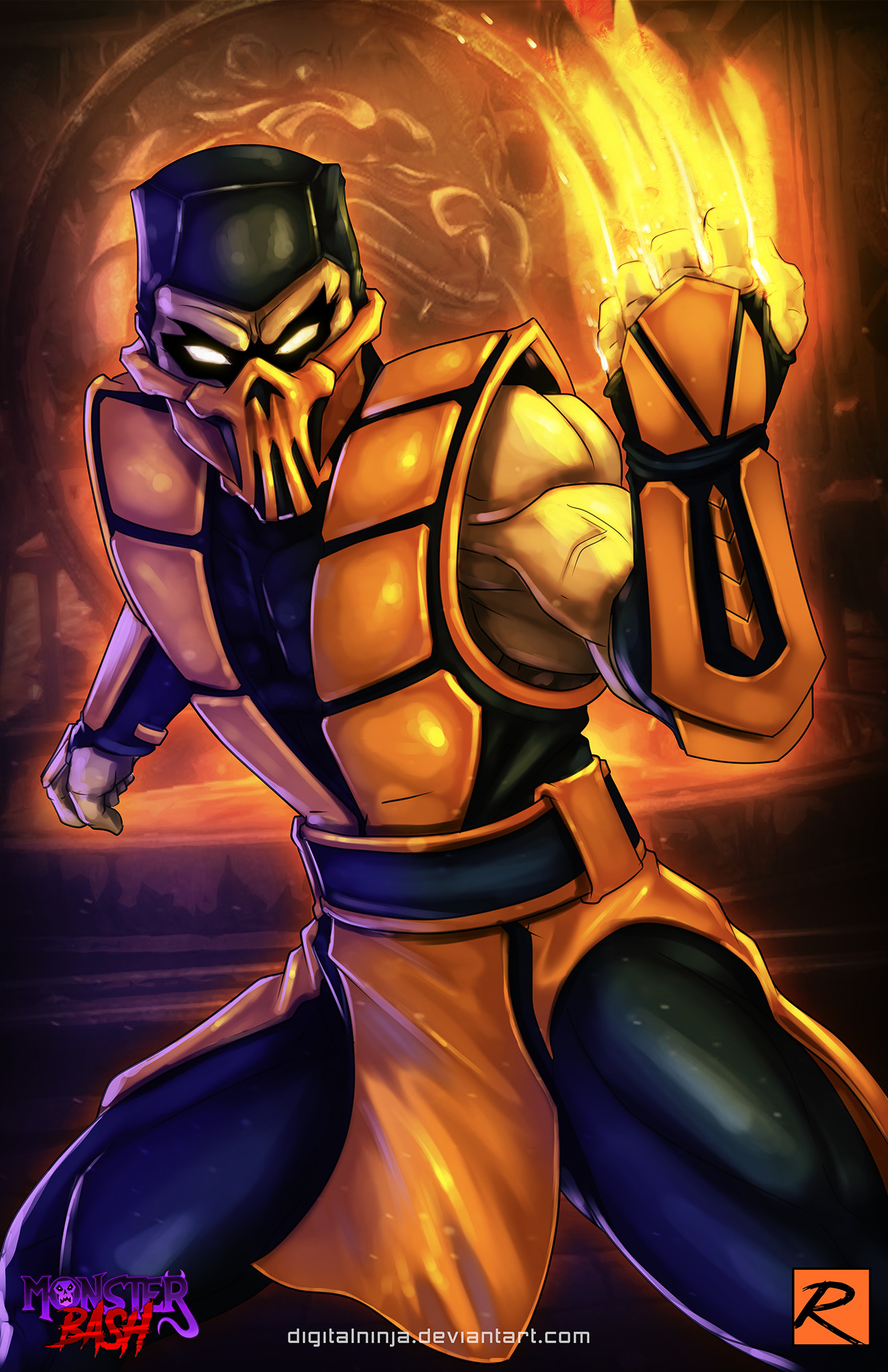 Artstation Scorpion Mortal Kombat Robbie Reilly