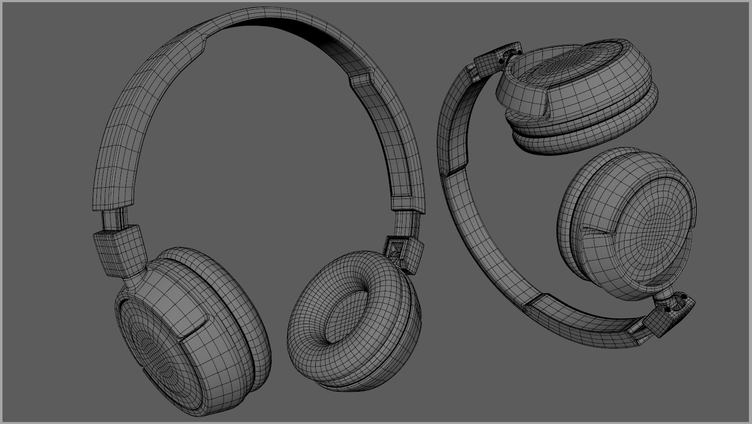 High-poly model wireframe