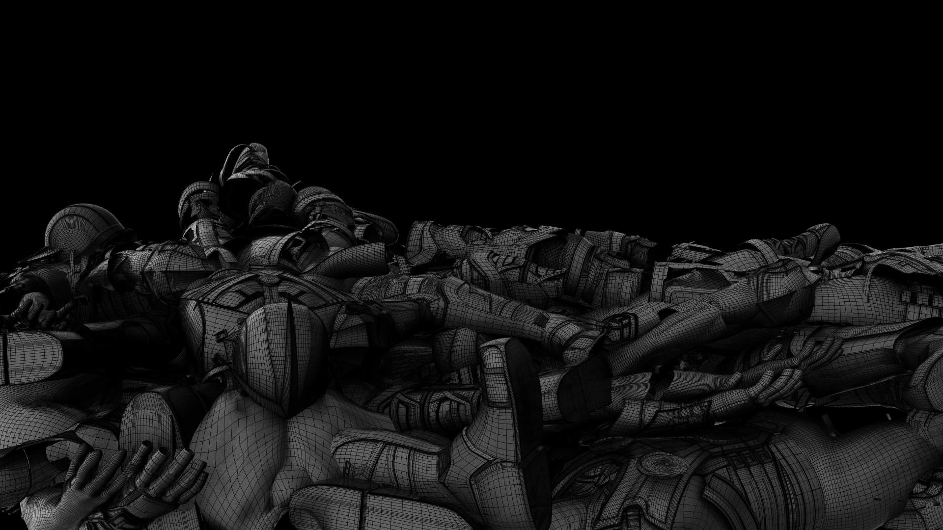 Dead bodies wireframe