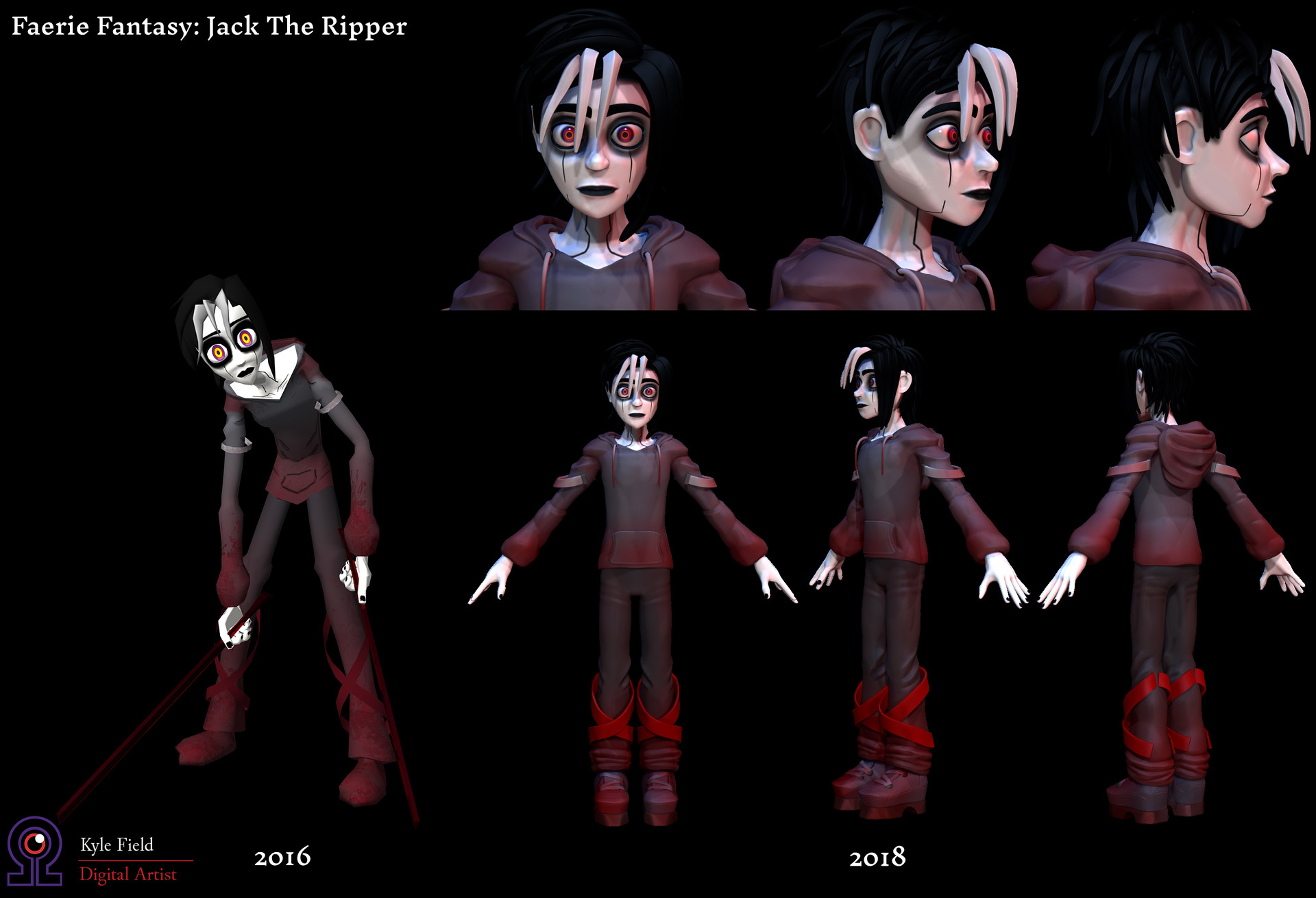 Comparison between original model from 2016 and current ZBrush Sculpt