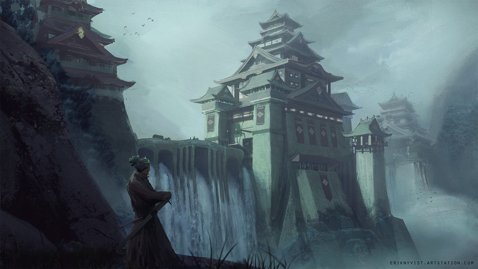 Feudal Japan Environment challenge. Takeda castle