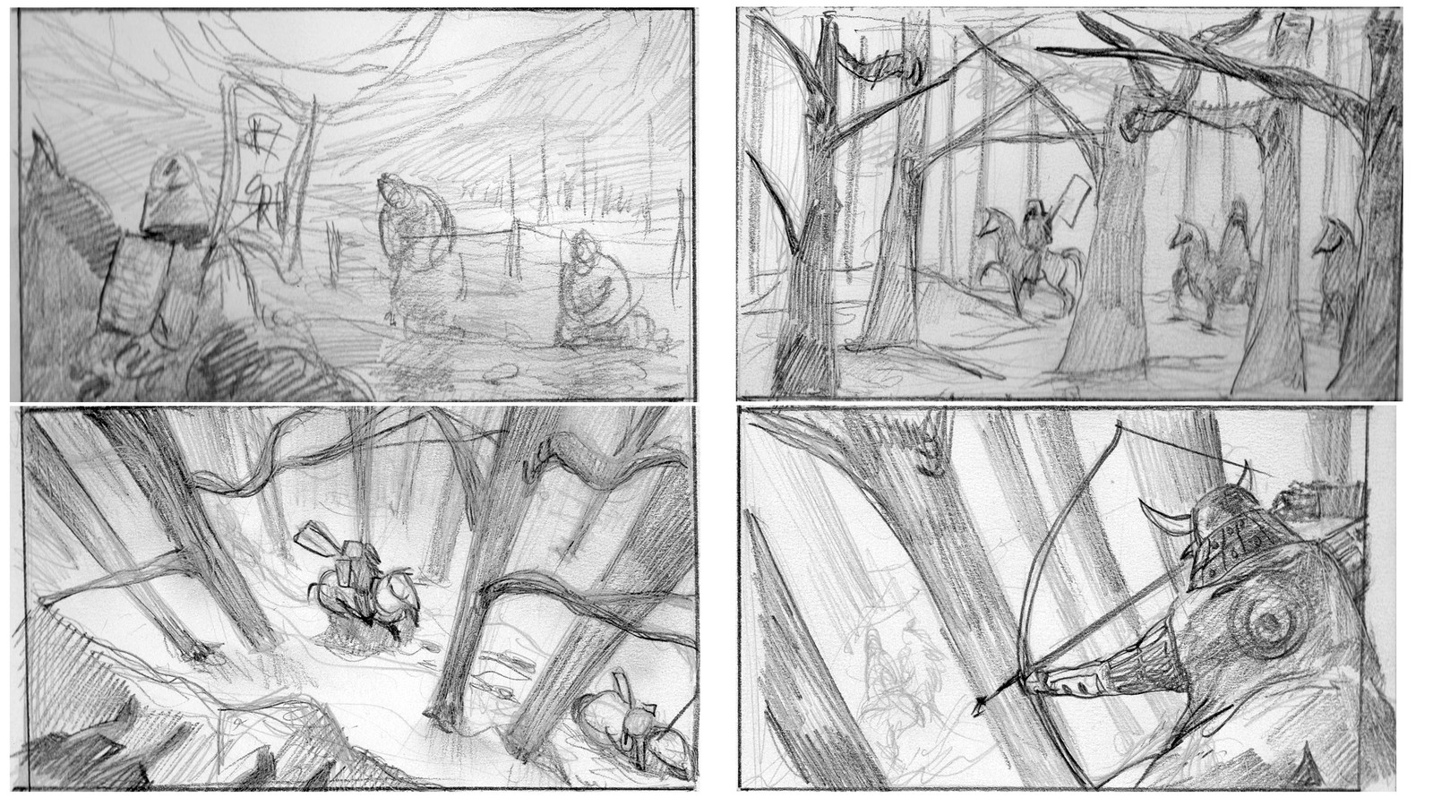 Thumbnails sketches