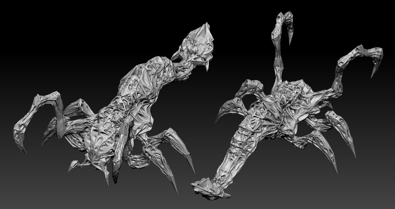 Middle one on Zbrush