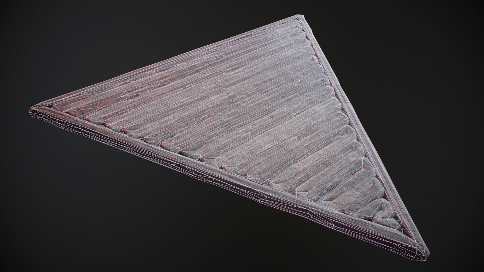 Triangular Floor Wireframe