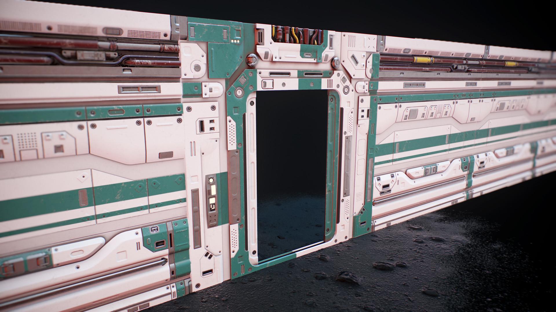 Door tiled