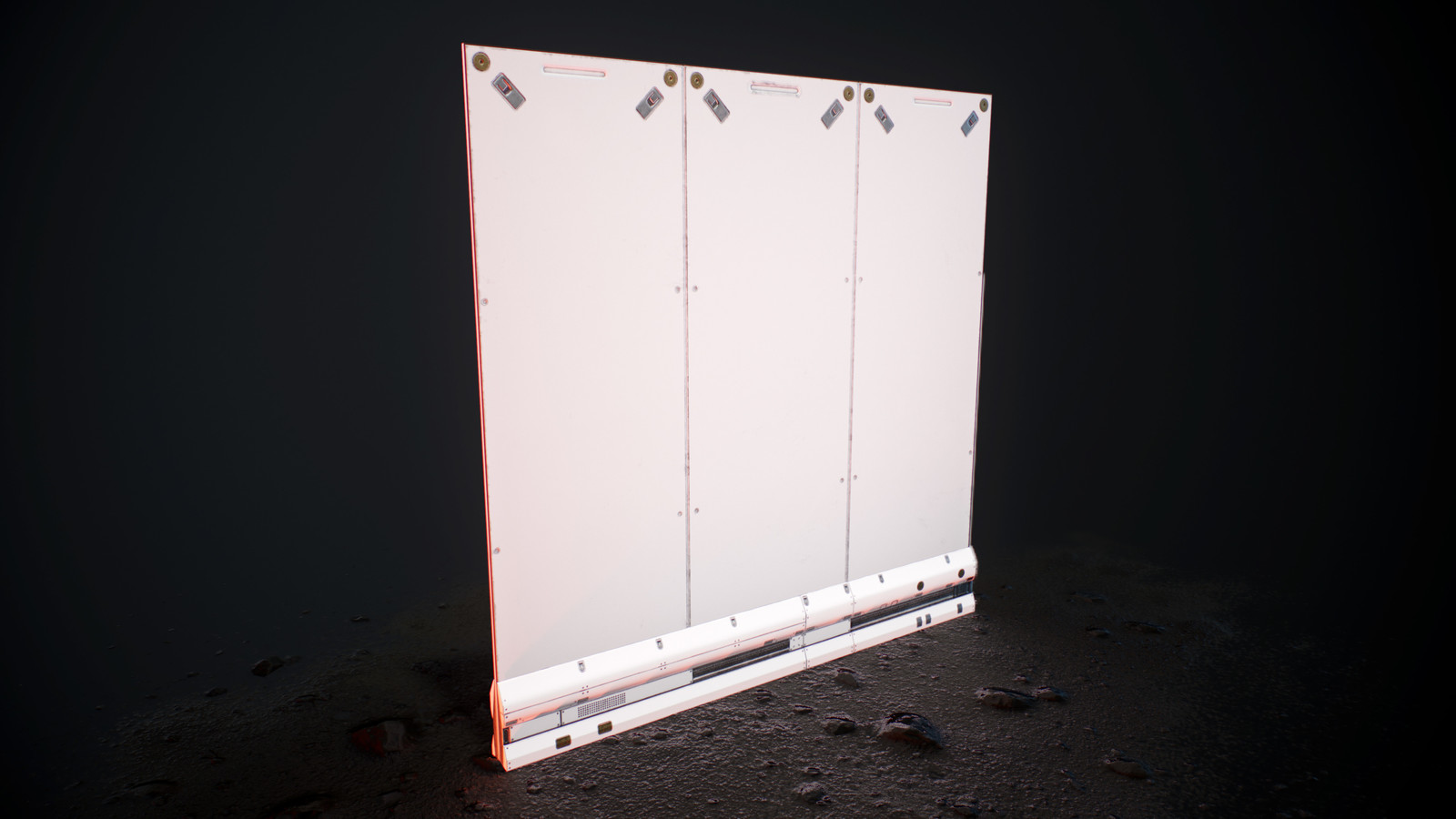 Wall with ground bar