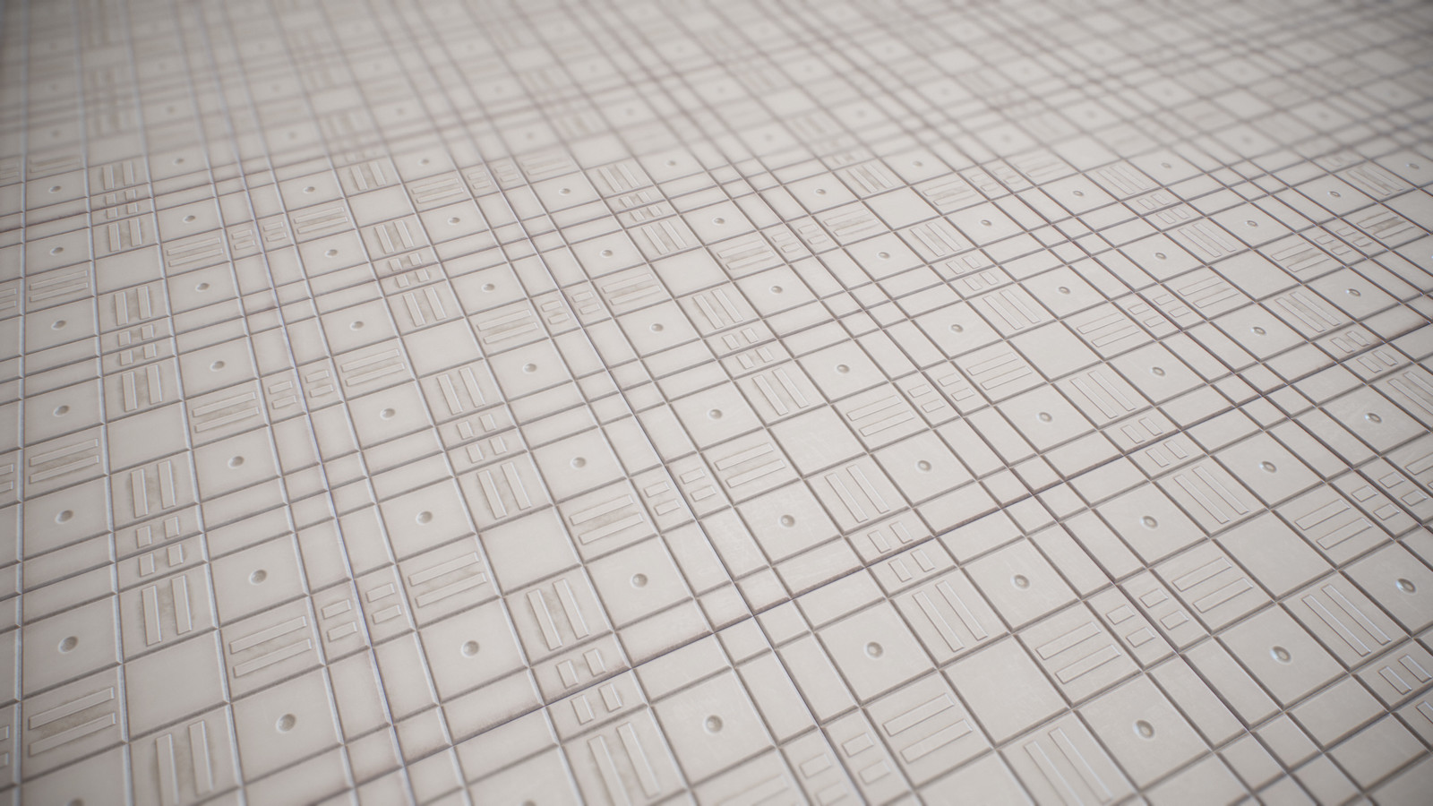 Plastic ground tiled