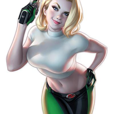 Warren louw danger girl 1 gallery edition krs comics exclusive da