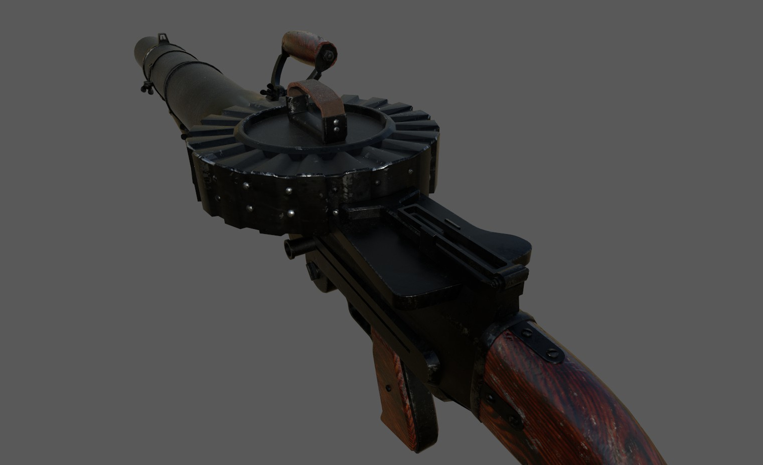 ArtStation - WW1 Lewis Machine Gun - Game Model, Phil Rowe