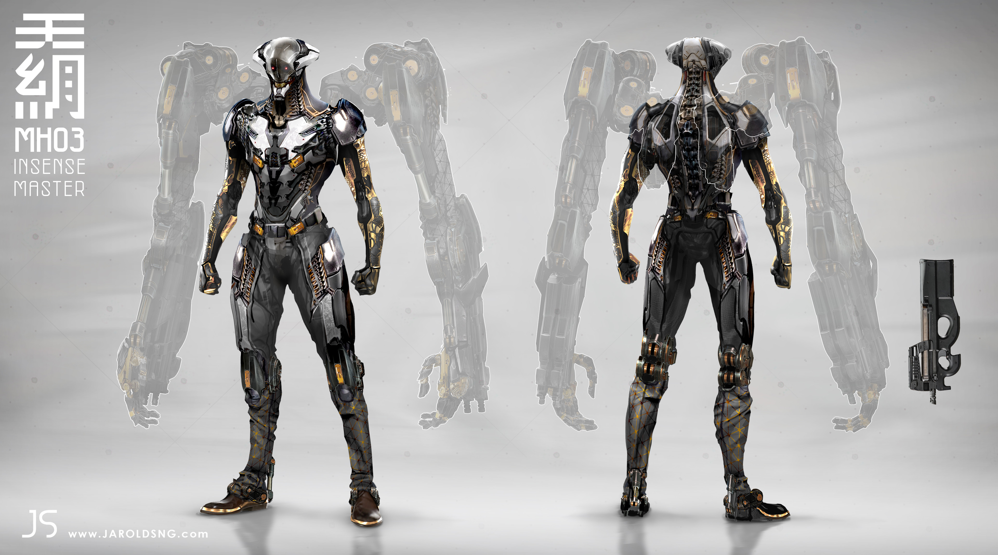 Final Concept with Ghosted exo arms