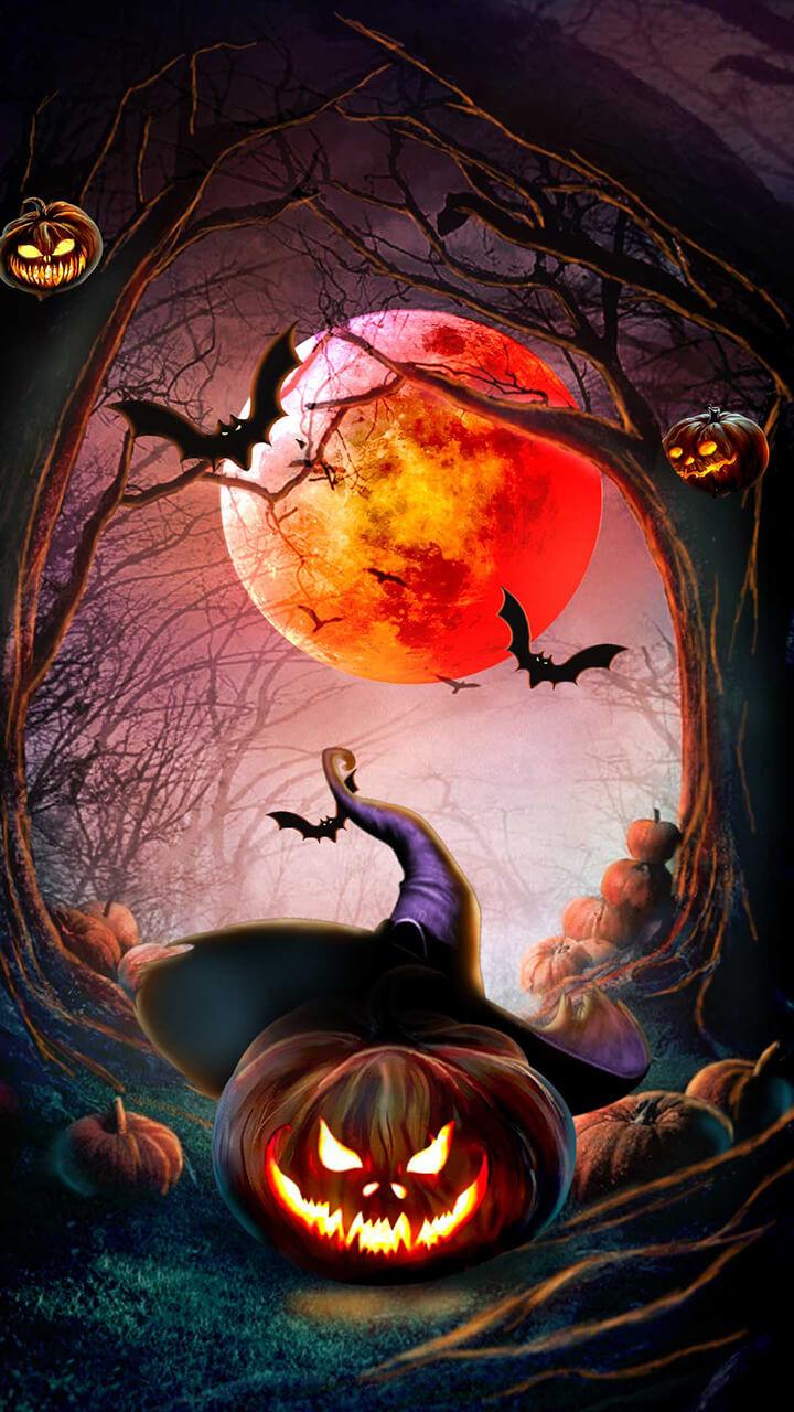 Artstation 2d Halloween Jack O Lantern Rucha Rane