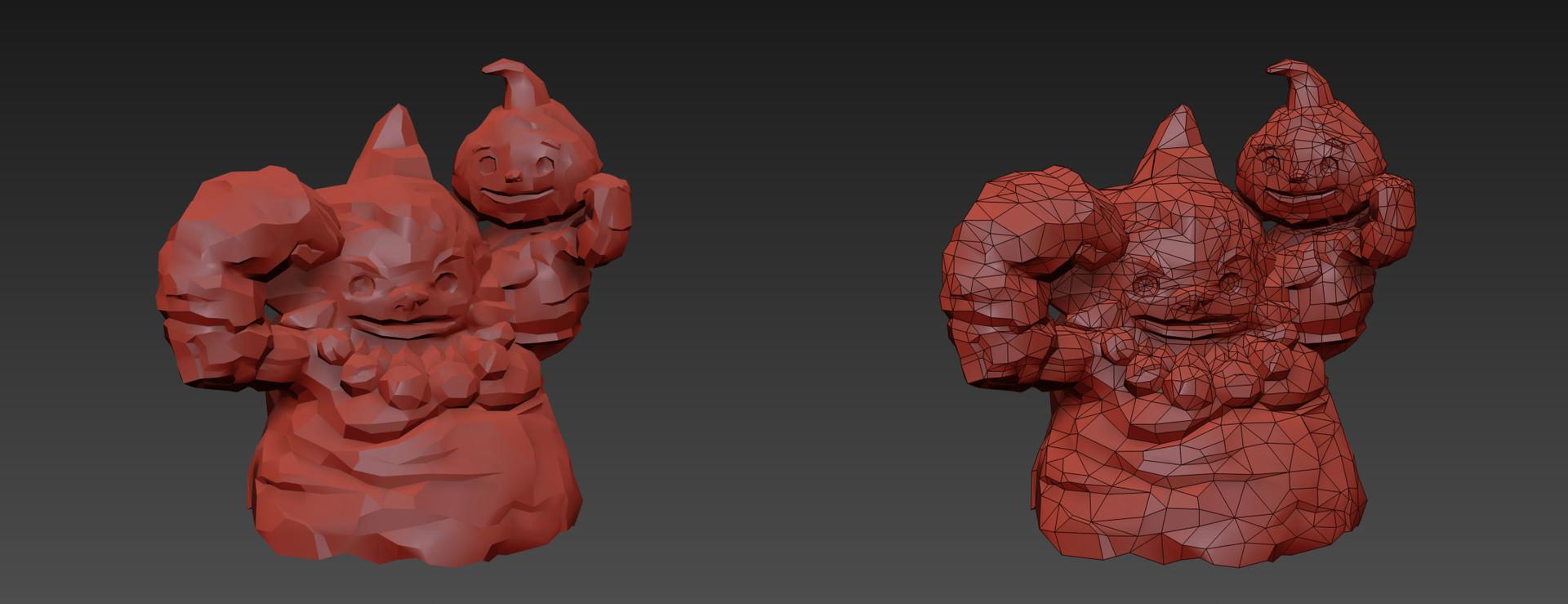 Goron Statue B - 3DS Max screengrab