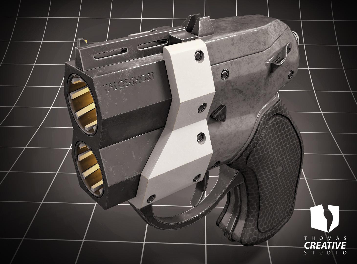ArtStation - Concept: Talo-Short Derringer, Reginald Thomas