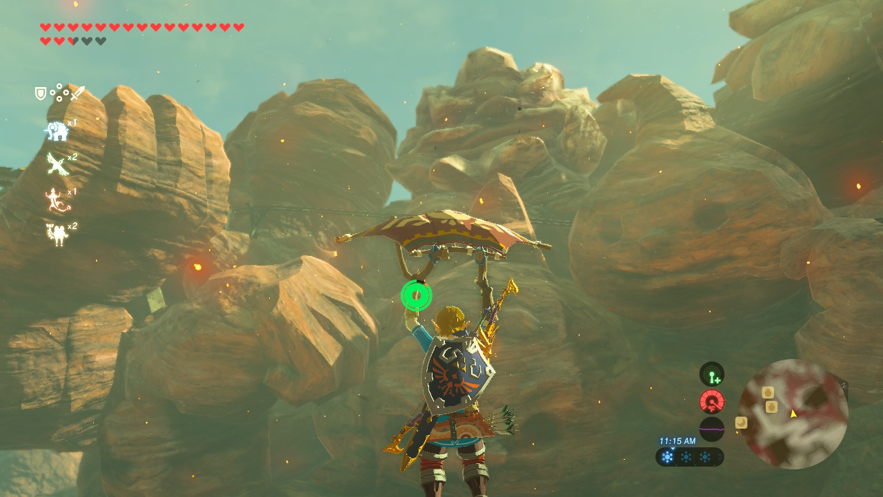 Goron Statues in-game