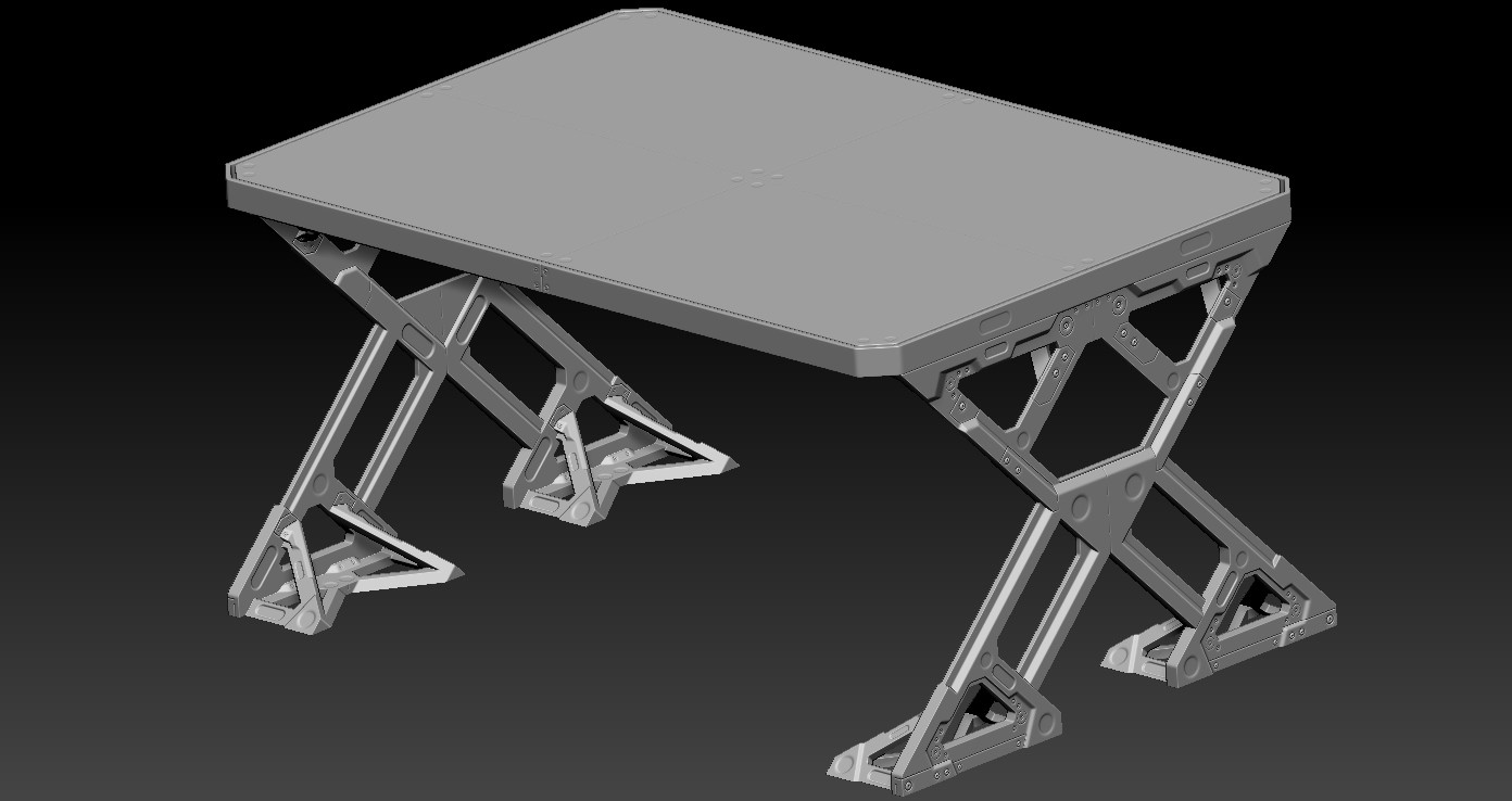 Table on Zbrush